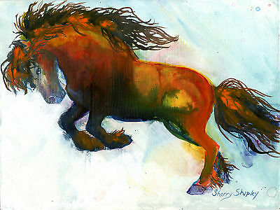 POWER 8x10   HORSE Print from Artist Sherry Shipley