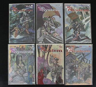 Full set of 7th System Comics - Issues 1,2,3,4,5,6 - Sirius - 1998/9 - VF