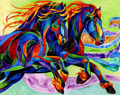 WIND DANCER 8x10   HORSE Print from Artist Sherry Shipley