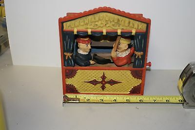 Replica Punch & Judy  Vintage Mechanical Cast Iron Working Bank