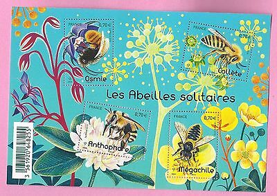 France 2016 Bloc Neuf Nature Faune Abeilles France Sheet Mnh Bee Fauna Insects
