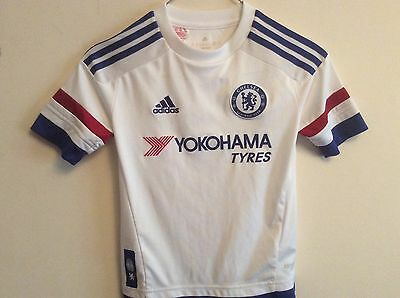 Chelsea F.C adidas 2015 away 7-8 year old shirt trikot maglia maillot camiseta