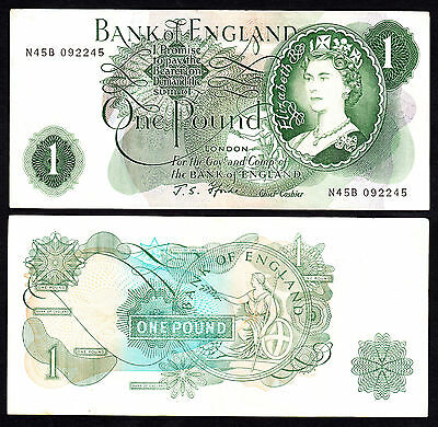 Bank of England J.S. Fforde 1966-1970 Pound VF/+ Note