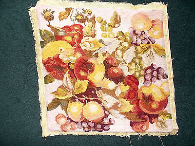 Completed Tapestry Needlework, Autumn Colours & Fruit