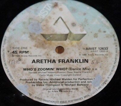 """ARETHA FRANKLIN * WHO'S ZOOMING WHO * Classic Soul Funk Boogie 12"""" Vinyl"""