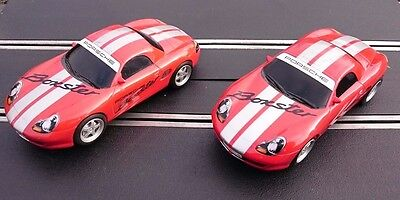 2 x SCALEXTRIC PORSCHE BOXTER S cars - Good fast working condition