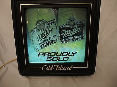 Miller Lite Cold - Filtered Wall Beer Sign - Working