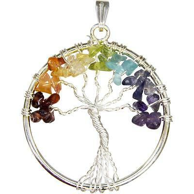 Tree of Life Pendant in Chakra Colors!