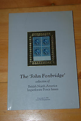 Weeda Weinberg Catalogue: John Foxbridge collection of BNA Imperf Pence Issues