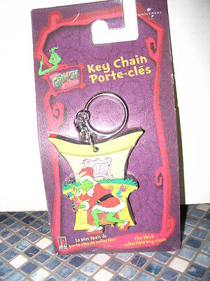 Dr Seuss Grinch Who Stole Christmas Keychain Reversible Brand New Very Rare