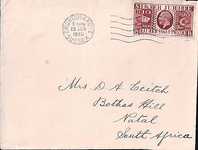 1935 Silver Jubilee  Cover To South Africa