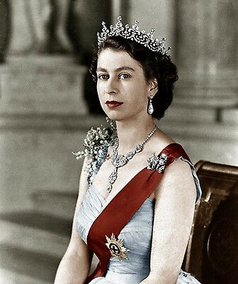 Queen Elizabeth Ii Royalty Young 8X10 Photo Picture Photograph