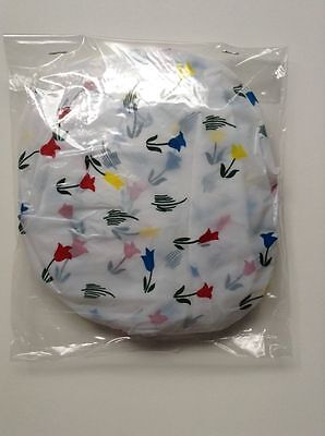 10 Elastic Bowl Covers Plastic Bowl Saver Various Sizes NEW Small Flowers