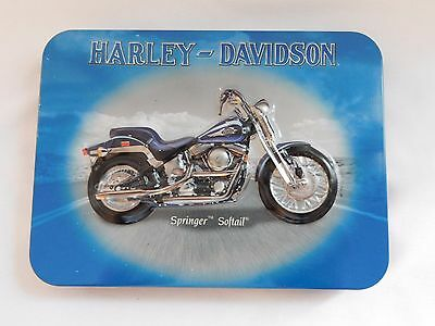 2001 Harley Davidson Springer Softail Collectible Tin with 2 Decks Playing Cards