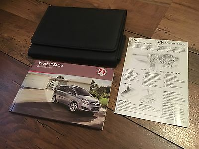 Vauxhall Zafira B Owners Handbook User Manual & Wallet Set 2008-2012 Mark 2