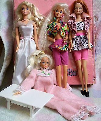 1980s Barbie Dolls + Case + Clothing + Table + MORE