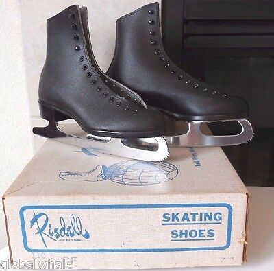NEW Riedell 110 Men's Ice Figure Skates Sz 7 Black w/ MK 10 1/3 blades