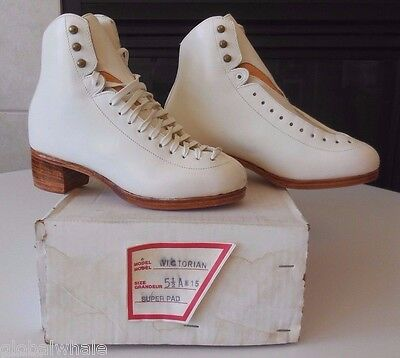 NEW SK Steve Kolozsvary Victorian Hand Crafted Figure Skates Sz 5 1/2A BOOT ONLY