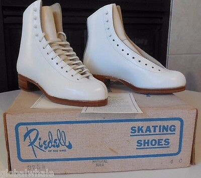 NEW Riedell 375 Gold Star - Ice Figure Skates - Sz 4 C White BOOT ONLY