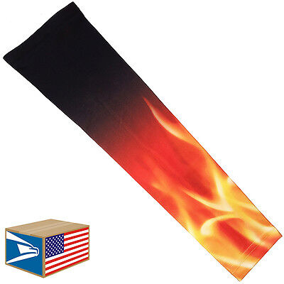 COMPRESSION ARM ELBOW SLEEVE Blazing Fire Flames BASKETBALL YS/YM/YL/S/M/L/XL