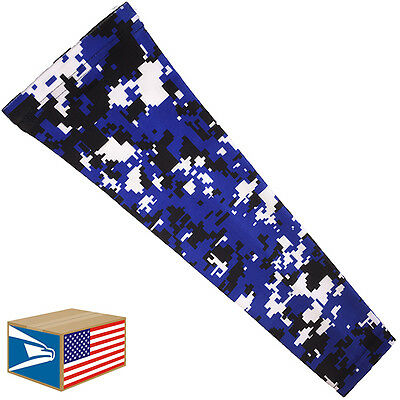 COMPRESSION ARM ELBOW SLEEVE Royal Blue Digital SPORTS BRACE YS/YM/YL/S/M/L/XL