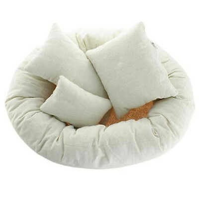 Baby Newborn Photography Basket Filler Wheat Donut Posing Props Baby Pillow E6Q3
