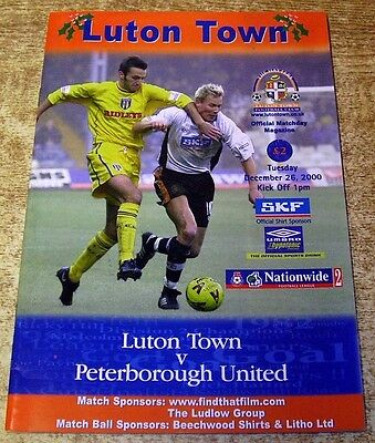2000/01 DIVISION TWO - LUTON TOWN v PETERBPROUGH UNITED - 26 DECEMBER 2000
