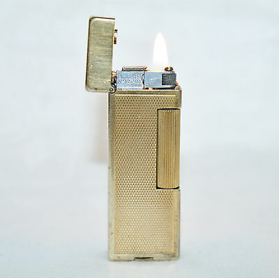 Vintage  Alfred  Dunhill Gold Plate Rollalite in Working Condition