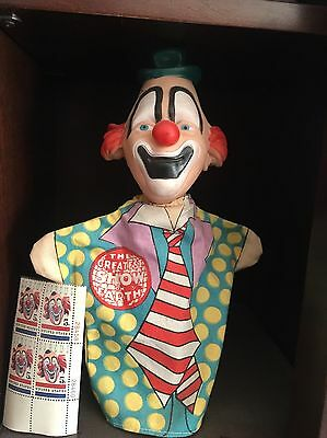 Ringling Bros Circus Vintage Lou Jacobs Puppet Very Rare & Stamp Block