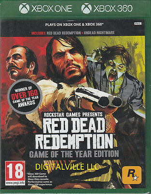 Red Dead Redemption Xbox 360 Brand New Factory Sealed Xbox One Compatible