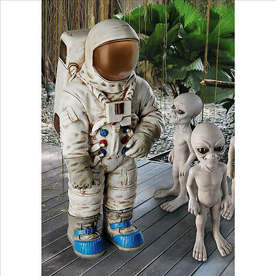 Nasa Astronaut Space Suit Theme First Man on Moon Lunar Landing Apollo 11 Statue