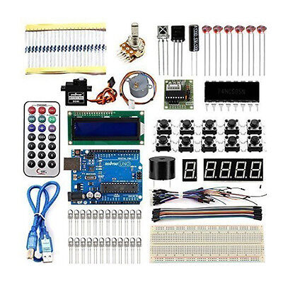 US Primary Starter Kit for Arduino DIY Projects UNO R3 Board Sensors 20 items