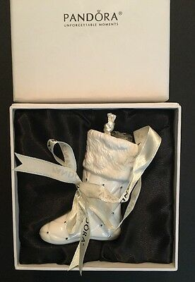 *2012 Pandora Christmas Stocking Ornament With Bead Pouch Novelty Holiday Gift