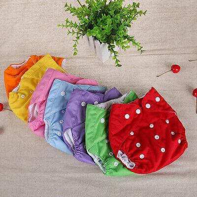 Fashion Cotton Cloth Diaper Nappy Newborn Baby Infant All In One Size Adjustable