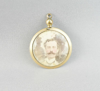 Antique Victorian Rolled Gold Double Sweetheart Pendant Fob Husband &  Wife