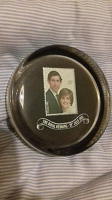 1981 Glass Paperweight  For The Wedding Of Prince Charles And Diana Spencer