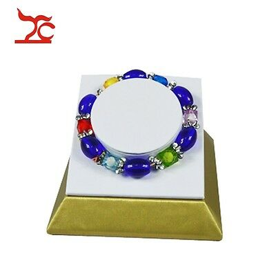 The Newest Golden White Leatherette Jewelry Display Props Bangle Holder Bracelet