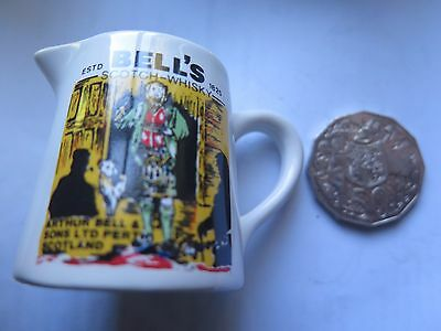 BELLS SCOTCH WHISKY WATER JUG in MINIATURE c1980s 5cms HIGH