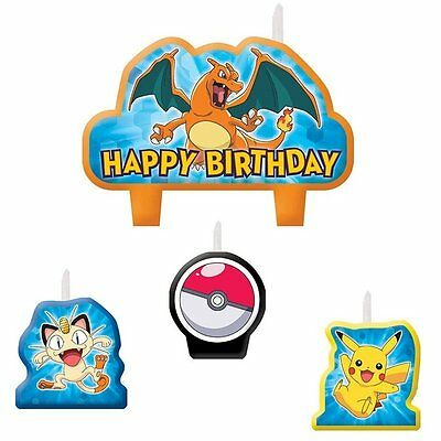 Pokemon Birthday Party Candle Set Of 4