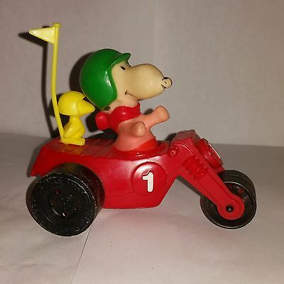 Vintage 1972 Peanuts Woodstock Trike Motorcycle Vehicle Snoopy 1965 Bike Red