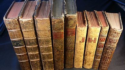 1700s - Lot of 9 Very Old Rare Historical Books