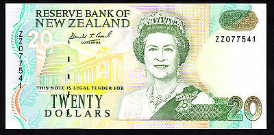 1993 New Zealand $20 Replacement Note P. 179 Brash UNC ZZ