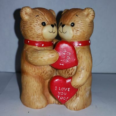 Lucy & me Boy and girl Valentines day I love you Heart Red 1980 Rigg Enesco
