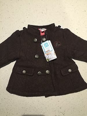 New With Tag Baby Girls Winter Coat, French Brand Orchestra.Size 12m(76cm)