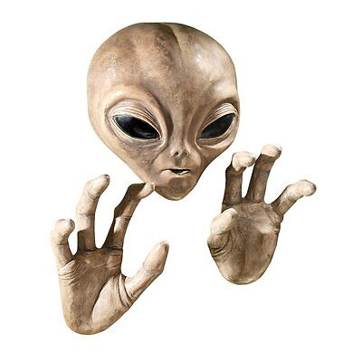 UFO Space Alien Sighting Wall Hanging Art Roswell Crash Extraterrestrial Statue