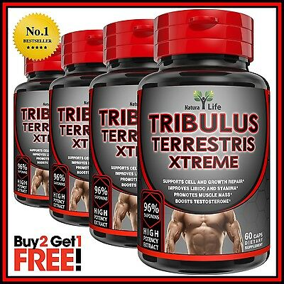 Tribulus Terrestris Extract Extreme Testosterone Booster Anabolic Muscle Pills