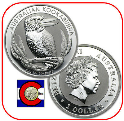2012 Australia Kookaburra 1 oz. Silver Coin - BU direct from Perth Mint roll