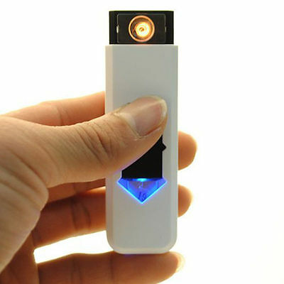 USB Electric Battery.Rechargeable Flameless Collectible Lighter  Cigarettes 8YO