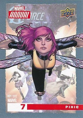 #7 PIXIE 2016 Upper Deck Marvel Annual X-MEN A-FORCE