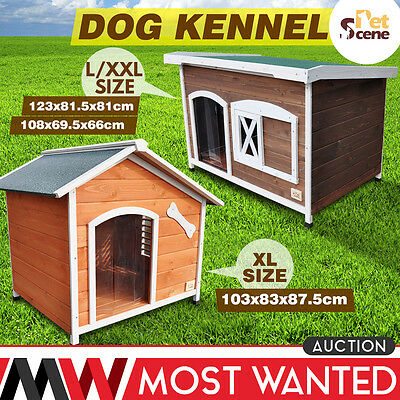Waterpoof Dog Kennel House Pet House Shelter Outdoor Removable Floor Easy Clean